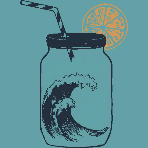 Wave In Cocktail Jar Summer