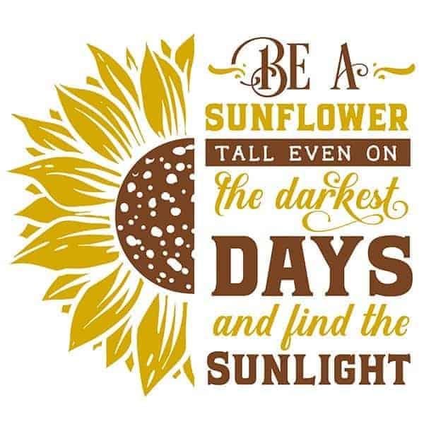 Be a Sunflower Yellow T-Shirt