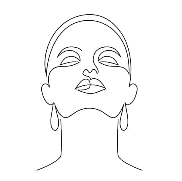 One Line Drawing Face of a Woman