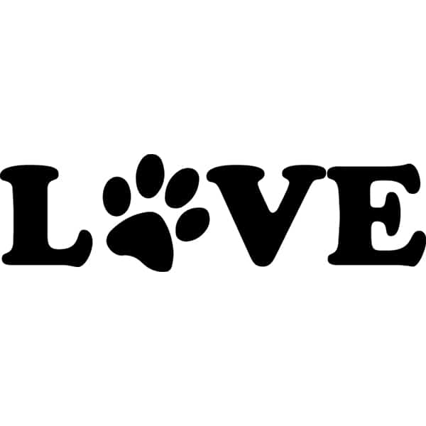 LOVE with a Dog Paw Print T-Shirt