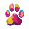 Colorful Animal PAW Prints