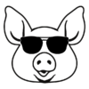 Pig with Sunglasses T-Shirt