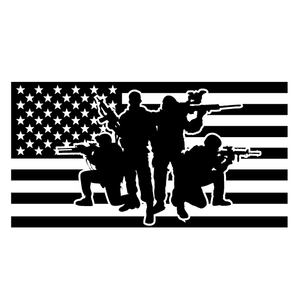 US Soldiers Black Flag